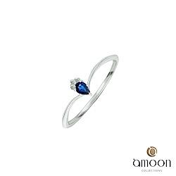 amoon 璀璨星空系列 閃爍 K金鑽石/藍寶石戒指