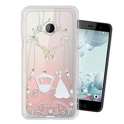 HTC U Play 奧地利水晶彩繪空壓手機殼(精靈捧花)