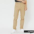 H:CONNECT 韓國品牌 男裝-簡約純色直筒長褲-卡其