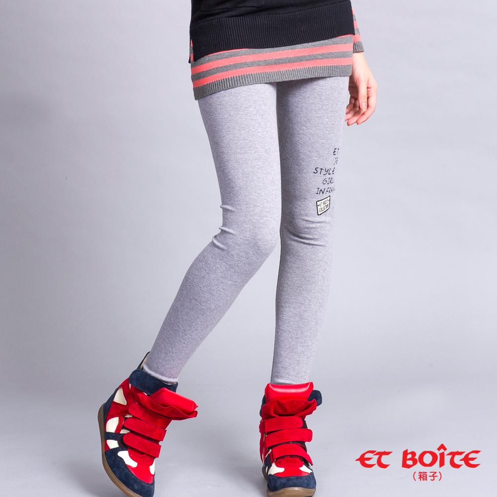 ETBOITE 箱子 BLUE WAY 字母彈性貼腿褲