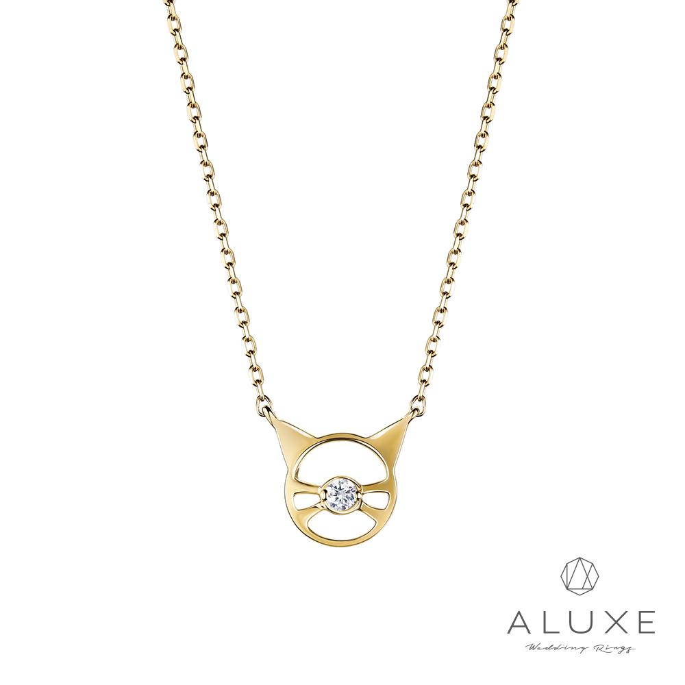 ALUXE 亞立詩 Pet 18K金鑽石貓咪項鍊