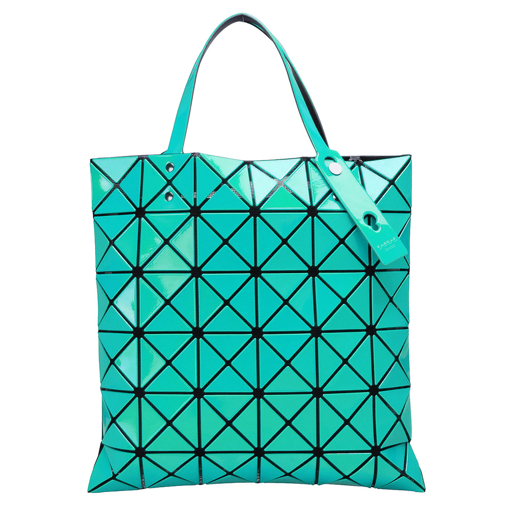 ISSEY MIYAKE 三宅一生BAOBAO幾何方格6x6手提包(嫩綠)