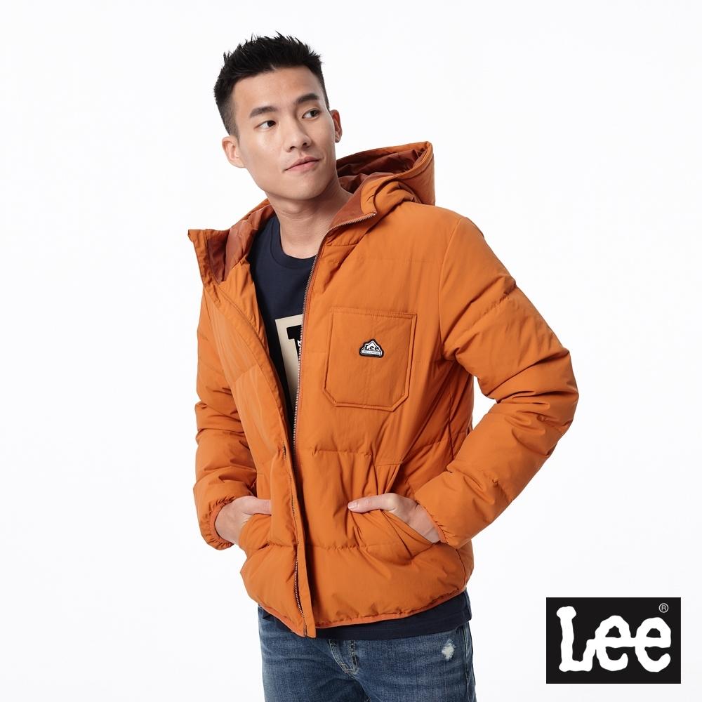 Lee 連帽羽絨外套 RG 男款 秋紅色