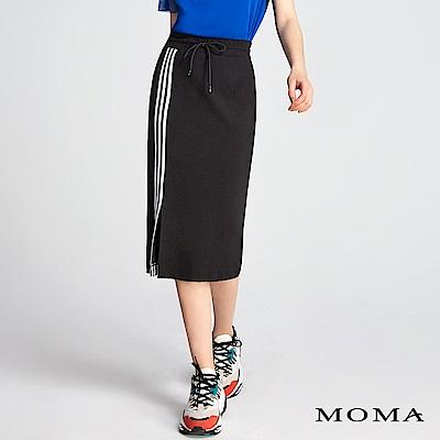 MOMA 條紋織帶直筒裙