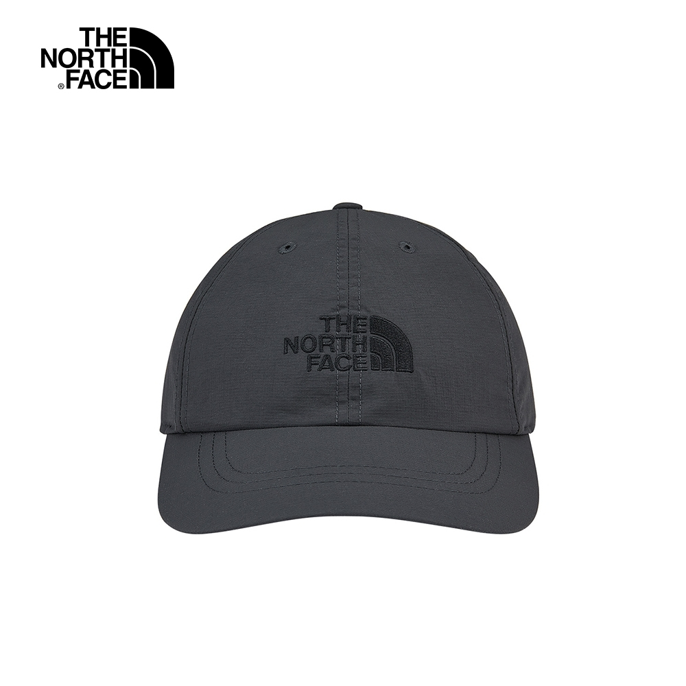 The North Face北面男女款深灰色防曬透氣LOGO運動帽|CF7W0C5