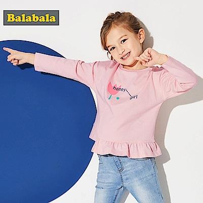 Balabala巴拉巴拉-俏皮圖案長袖T恤-女(3色)