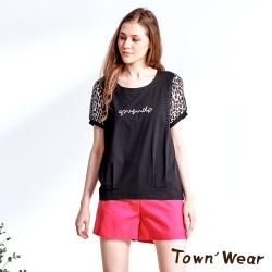 【TOWNWEAR棠葳】美式印花鑽飾棉質上衣