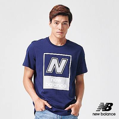 New Balance N字Logo短袖T恤_AMT91583PGM_男性_深藍