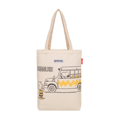【OUTDOOR】SNOOPY聯名款帆布肩背包-巴士款 ODP21D03BG