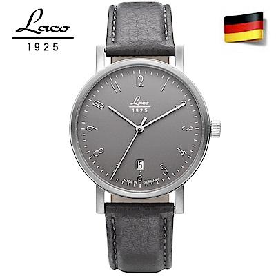 Laco 朗坤 862066德國工藝 輕薄商務防水真皮自動機械腕錶 男款-40mm