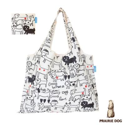 日本 Prairie Dog 設計包/環保袋/購物袋/手提袋 - 黑白狗狗