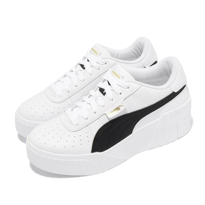 Puma 休閒鞋 Cali Wedge 女鞋 厚底 增高 皮革 穿搭推薦 白 黑 37343805