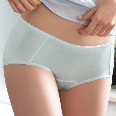 華歌爾 COOL冰涼褲 M-LL中低腰平口褲(綠)