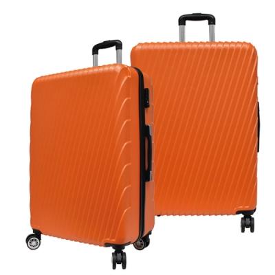 RAIN DEER 24吋羅馬妮雅ABS拉鍊行李箱-亮橘