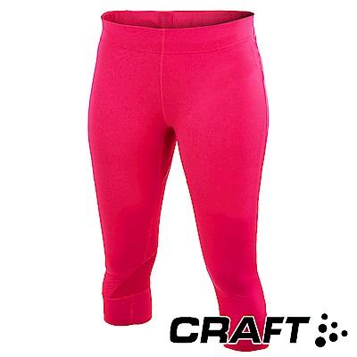 【瑞典CRAFT】女 PR競跑七分褲『桃紅』1902503