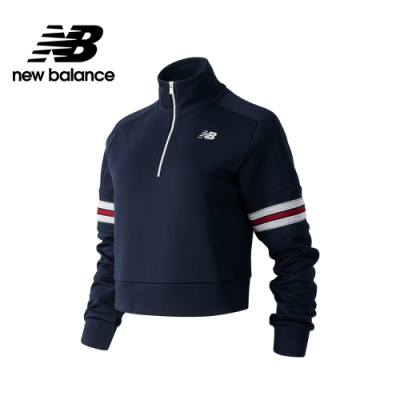 【New Balance】NB DRY 手臂鑲面半開襟_女性_深藍_AWT03134ECL