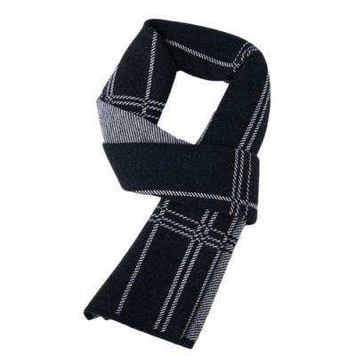 米蘭精品 羊毛圍巾-針織拼色格紋商務男披肩情人節生日禮物6款73wh63