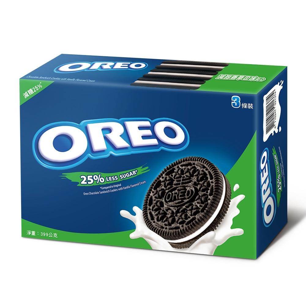 OREO奧利奧減甜-香草口味夾心餅乾(133gx3包)