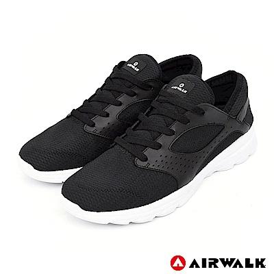 【AIRWALK】蓄力待發編織鞋(女)-黑色