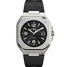 Bell & Ross BR05時尚機械錶-黑x膠帶40mm