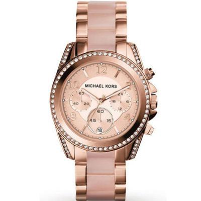 Michael Kors 自我風格晶鑽計時腕錶(MK5943)