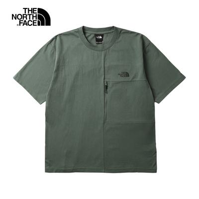 The North Face北面UE男款綠色吸濕排汗可打包圓領短袖T恤 5JVZV1T