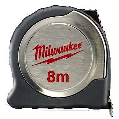 Milwaukee美沃奇 8M磁性白鐵文工捲尺 48-22-6118F