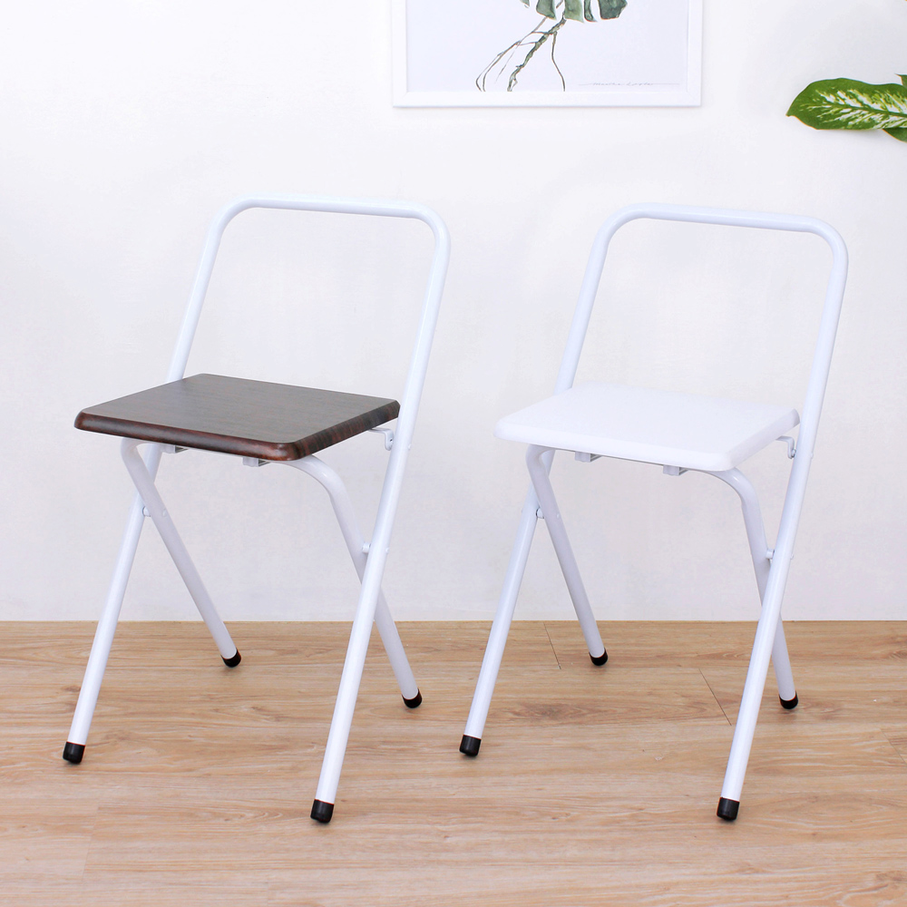 E-Style 鋼管(木製椅座)折疊椅/餐椅/休閒椅/露營椅/洽談椅-二色