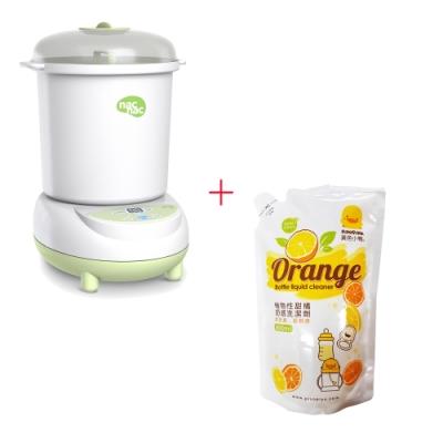 nac nac 微電腦消毒烘乾鍋UB22+黃色小鴨 奶瓶洗潔劑補充包800ML*1入