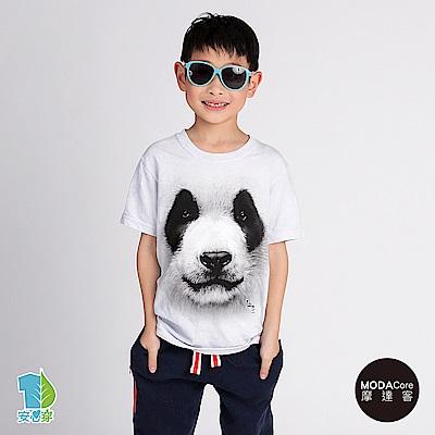 摩達客-美國The Mountain 熊貓胖達臉 兒童版純棉環保短袖T恤