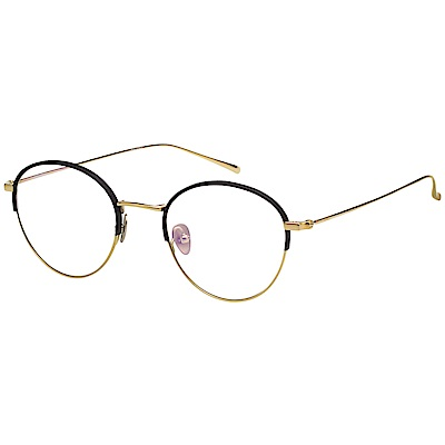 VEDI VERO 復古 光學眼鏡 (黑配金)