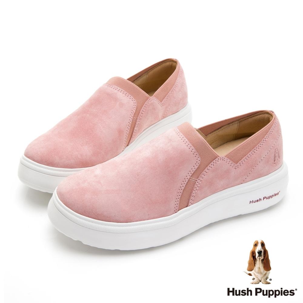 Hush Puppies 素色懶人休閒便鞋-粉色