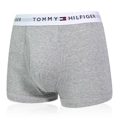 Tommy Hilfiger Cotton Stretch 男內褲 短版棉質高彈性合身平口褲/Tommy四角褲-灰色