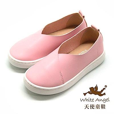 天使童鞋 時尚學院休閒鞋(中-大童)D422B-08 粉