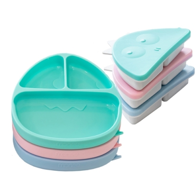 【韓國monee】100%白金矽膠恐龍造型可吸式餐盤 (3色可選)