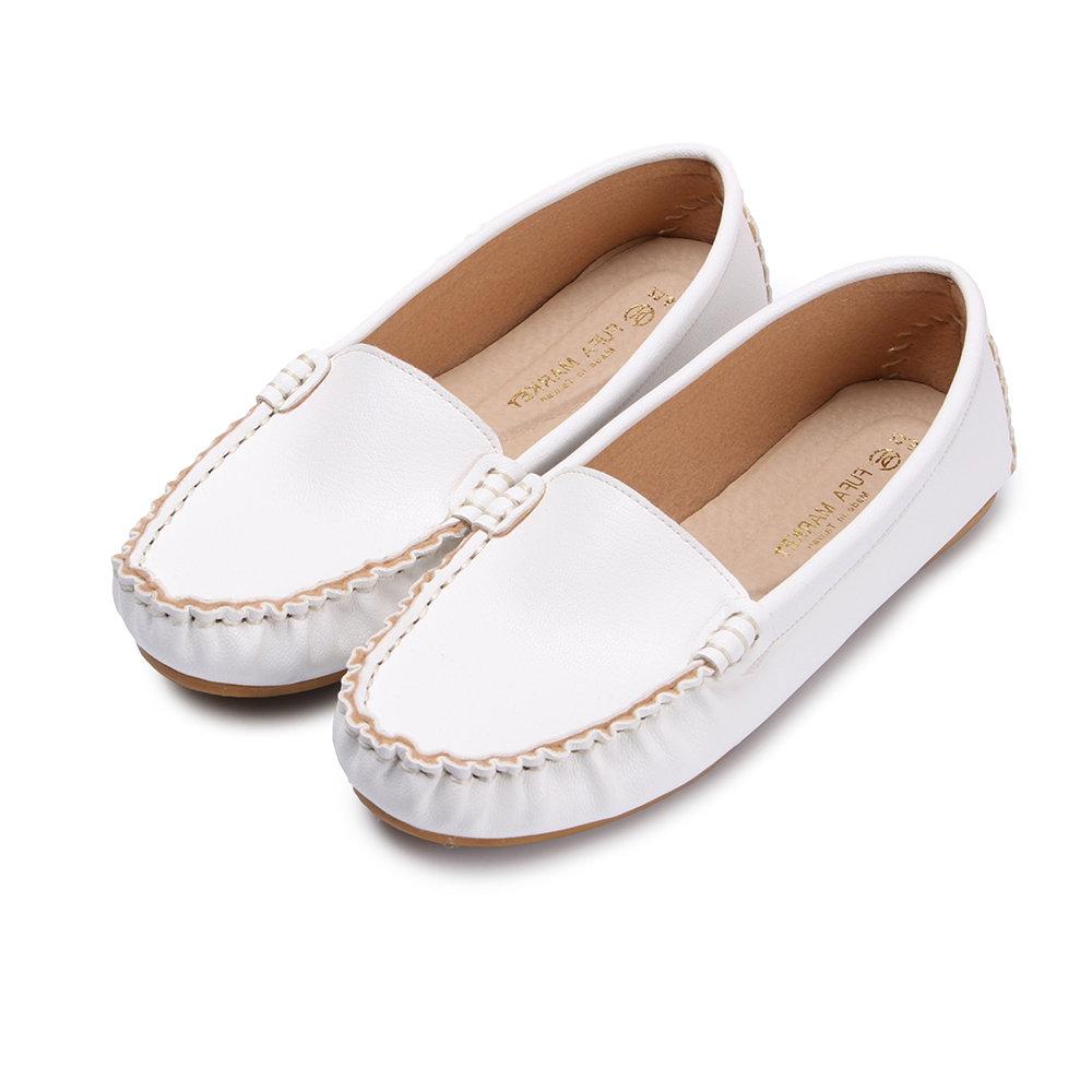 BuyGlasses 輕柔好感莫卡辛休閒鞋-白