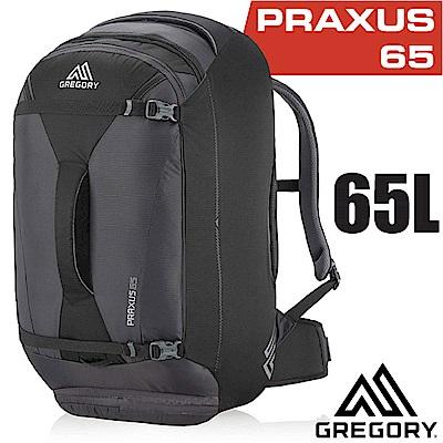 美國 GREGORY 新款 Praxus 65 多功能可背可提旅行背包_像素黑