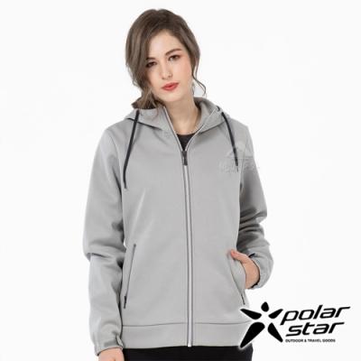 PolarStar 女 防風Soft Shell外套『淺灰』P19202