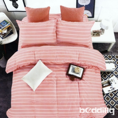 BEDDING-活性印染5尺雙人薄床包涼被組-124
