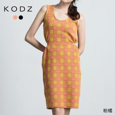 東京著衣-KODZ 復古當道圓點造型露腰洋裝-S.M