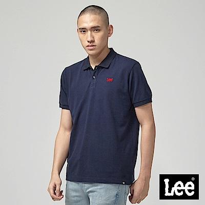 Lee 短袖小LOGOPOLO衫-丈青