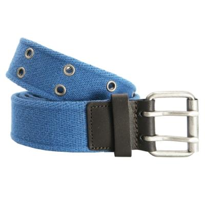 CH-BELT運動藍風格鉚釘純棉織帶腰帶皮帶(藍)