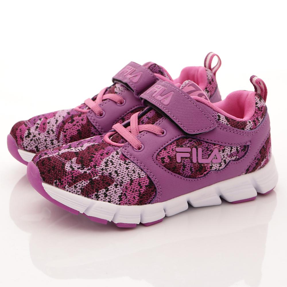 零碼-18cm FILA頂級童鞋 超輕量針織運動款 424R-992紫