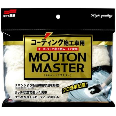日本SOFT99 天然羊毛洗車手套-急速配