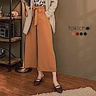 東京著衣 多色知性女孩蝴蝶結綁帶長寬褲-S.M.L.XL.XXL(共四色)