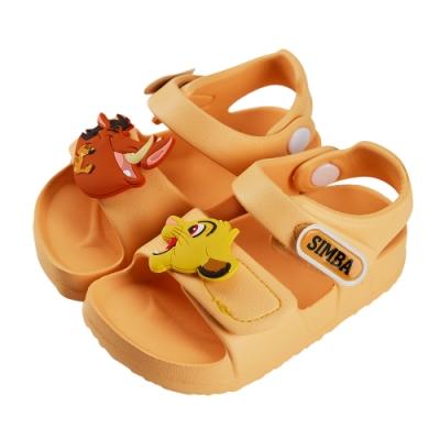 迪士尼童鞋  獅子王  立體造型防水涼鞋-黃(柏睿鞋業)
