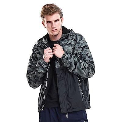 【ZEPRO】男子軍事主義迷彩拼接鋪棉外套-迷彩灰