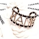 CHANEL 經典CHANEL英文字母金屬皮穿鍊款手環