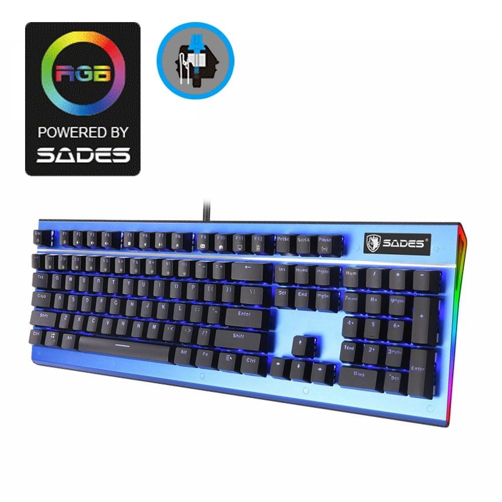 SADES賽德斯 SICKLE 死神鐮刀 藍光側邊RGB機械式電競鍵盤 (青軸)