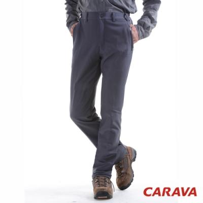 CARAVA 男款保暖軟殼褲(深灰)